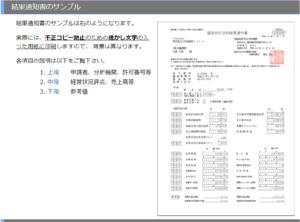 経営状況分析結果通知書 サンプル